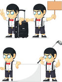 Mascotte personalizzabile di ragazzo nerd 15 — Vettoriale Stock