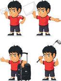 Soccer Boy Customizable Mascot 16 — Stock Vector
