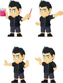 Spiky Rocker Boy Customizable Mascot 12 — Stock Vector