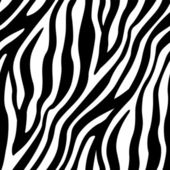 Zebra Stripes Seamless Pattern — Stock Vector