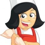 Cupcake Baker Mascot — Stock Vector
