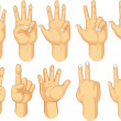 Hand Sign Collection - Counting Gestures — Stock Vector #51450495