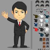 Businessman Customizable Character — Stock Vector