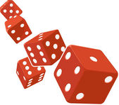 Dice Rolling with White Background — Stock Vector