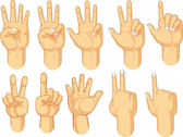 Hand Sign Collection - Counting Gestures — Stock Vector