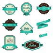 Vintage Sales Tags and Banners Vector — Stock Vector