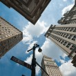 NYC architecture skycrapers reade st — Stock Photo