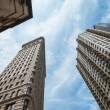 NYC architecture skycrapers Flatiron — Stock Photo