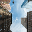 NYC architecture skycrapers Vertigo — 图库照片