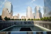 Waterfall Memorial Plaza — Stock Photo
