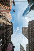 NYC architecture skycrapers Vertigo — Stock Photo