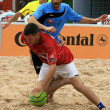 Beach soccer — Stock Photo