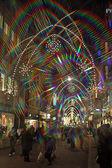 Basel Street lights — Stock Photo