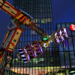 Light effects by night on fair - Stockfoto
