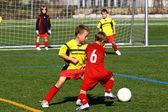 儿童足球 — 图库照片