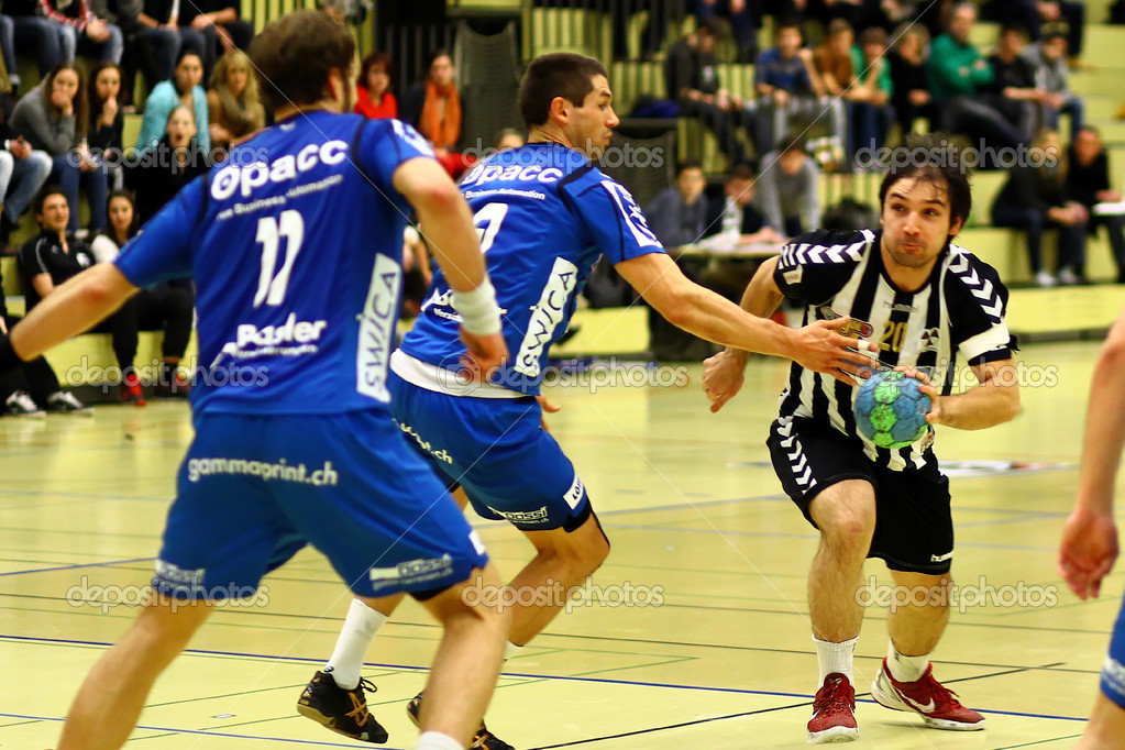 Handball NLARTV 1879 Basel -  HC Kriens Luzern   22.12.2012   Sporthalle Rankhof, Basel / Schweiz  Foto de Stock   #18035411