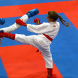 Karate fighters in action — Foto Stock