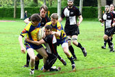 Rugby hra — Stock fotografie