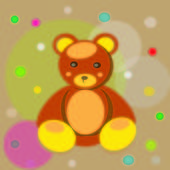 Postcard Bear — Stock Vector