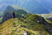Randonneurs dans les monts fagaras — Photo