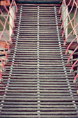 Ladder towards a toy castle — Stock Photo