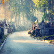 Graveyard path — Stock Photo