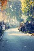 Graveyard path — Stock Photo