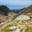 Beautiful view of Fagaras mountains and the Transfagarasan — Stockfoto