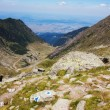 Beautiful view of Fagaras mountains and the Transfagarasan — Stock Photo