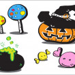 Stock Photo: Halloween icon, cartoon