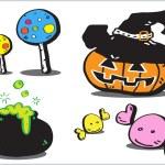 Halloween icon, cartoon — Stock Photo