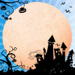 Halloween blue background — Stock Photo