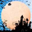 Stock Photo: Halloween blue background