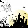 Stock Photo: Halloween background