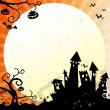 Halloween blue background - Stock Photo