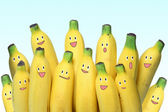 Banana teamwork — Stock Photo
