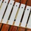 Stock Photo: Metal xylophone