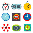 Clock set , vector — Stock Vector