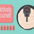 Royalty-Free Stock Vector Image: Motivation concept