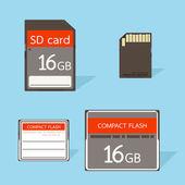 Cf と sd カード — ストックベクタ
