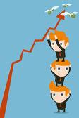 ビジネス パートナーは、チームワークの概念 — ストックベクタ