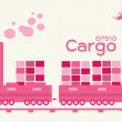 Cargo - logistic by train — Stock Vector #25320623