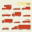 Cars and trucks — Stock Vector #25320663