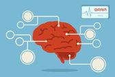 Brain, vector — Stock vektor