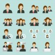 Office people icons — Stock Vector