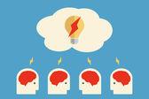 Brain storming — Stock Vector