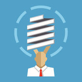 żarówka światła pomysł i biznesmen — Wektor stockowy