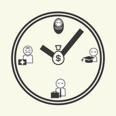Time of life, icons — Stock Vector