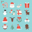 Stock Vector: Cristmas Icons