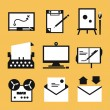 writing icons — Stock Vector